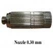Nozzle anti dirt